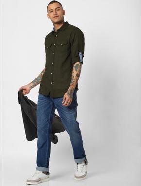Dark Green Full Sleeves Shirt