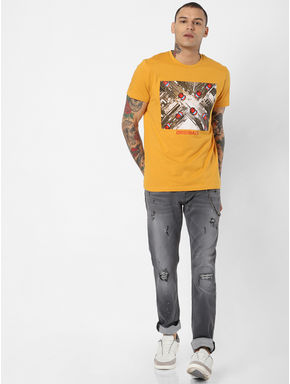 Grey Low Rise Ripped Tim Slim Fit Jeans