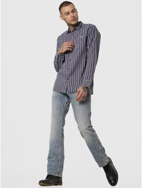 Light Blue Low Rise Clark Regular Fit Jeans