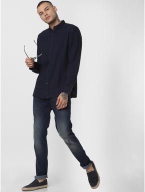 Blue Low Rise Ripped Glenn Slim Fit Jeans