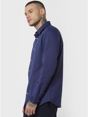 Blue Formal Full Sleeves Shirt