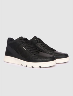 Black PU Sneakers