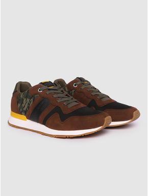 Brown Camo Detail Sneakers