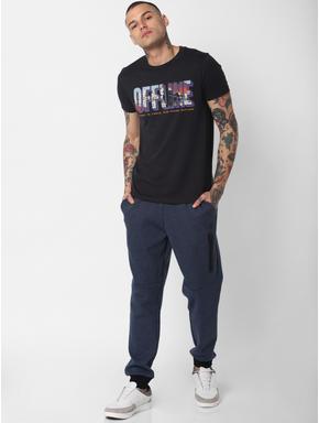 Dark Blue Drawstring Sweatpants