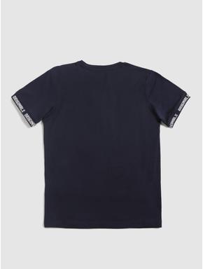 Junior Navy Blue Crew Neck T-shirt