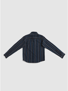 Junior Blue Striped Full Sleeves Shirt