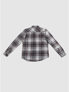 Junior Grey Check Full Sleeves Shirt