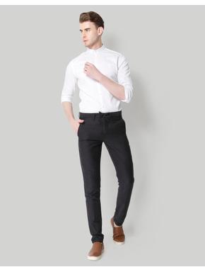 Black Drawstring Linen Pants