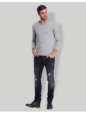 Light Grey V-Neck T-Shirt