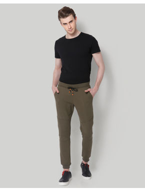 Green Drawstring Waist Sweatpants