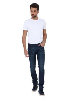Dark Blue Washed Ben Skinny Jeans