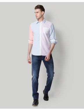 Blue Slim Fit Shirts