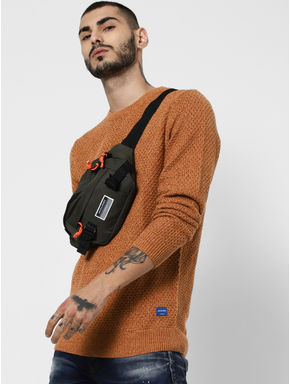 Brown Textured Pullover