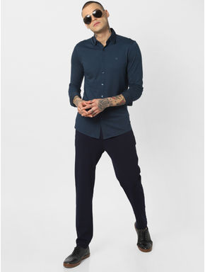 Dark Blue Jersey Full Sleeves Shirt