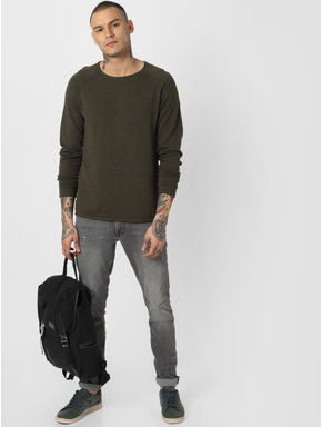 Olive Crew Neck Pullover