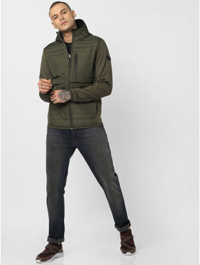 Green Hooded Puffer Jackets