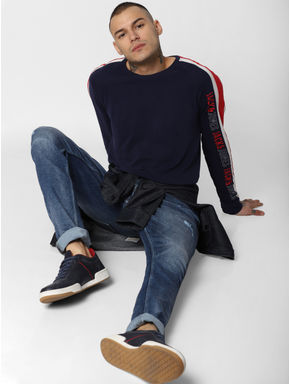 Dark Blue Low Rise Liam Skinny Fit Jeans