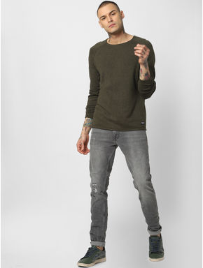 Grey Low Rise Ben Slim Fit Jeans