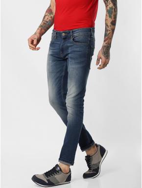 Blue Low Rise Glenn Slim Fit Jeans