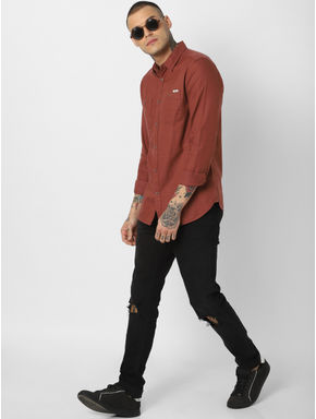 Brown Full Sleeves Shirt