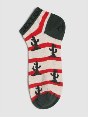 Green Striped Ankle Length Socks