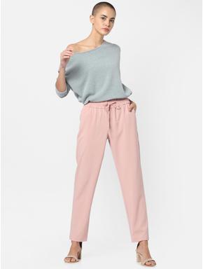 Pink Mid Rise Drawstring Pants