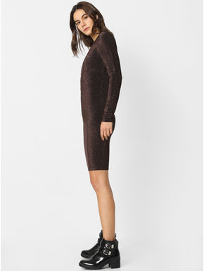 Black Shimmer Bodycon Dress
