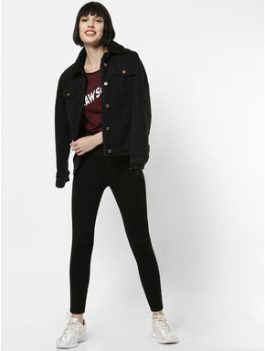 Black High Rise Skinny Fit Leggings