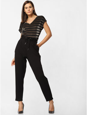 Black High Rise Skinny Fit Pants