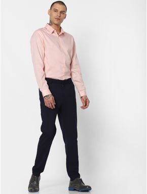 Pink Slim Fit Full Sleeves Shirt