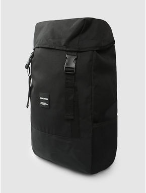 Black Buckle Flap Backpack