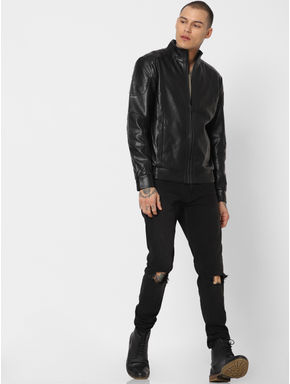 Black PU Jacket