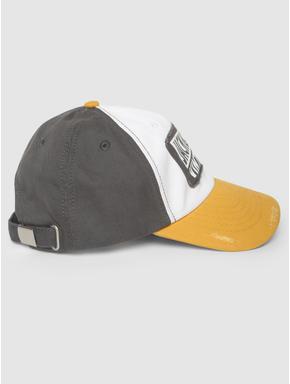 White Colourblocked Baseball Cap
