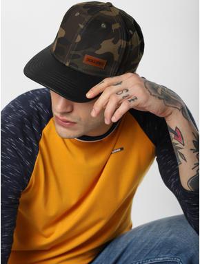Black Camo Print Cap