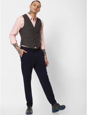 Brown Slim Fit Waistcoat