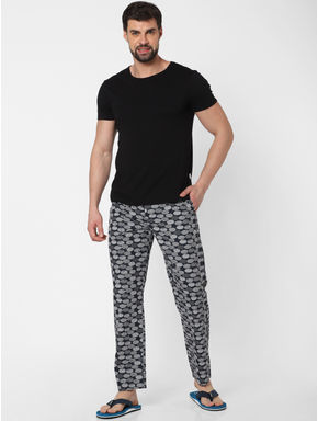 Black All Over Print Pyjama