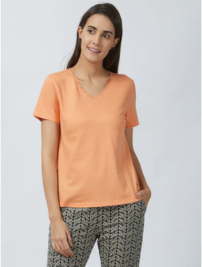 Mystere Embroidered Lace T-shirt