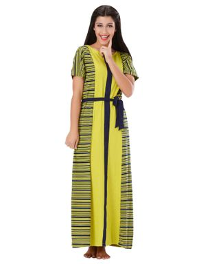 Colour Blocked Striped Long Dress