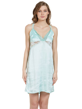 Lacy Satin Babydoll Dress