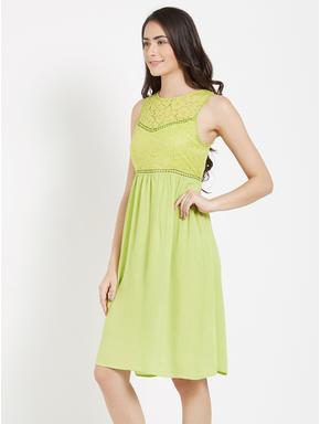 Delicate Lace Short Dress