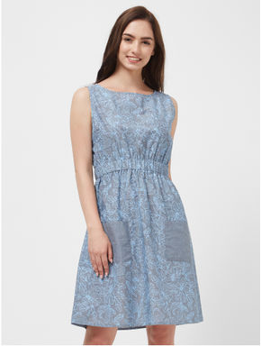 Floral Chambray Lounge Dress