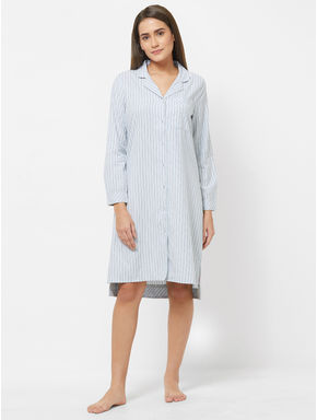 Classic Striped Shirt Dress