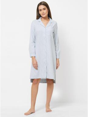 Classic Striped Shirt Dress