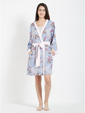 Sexy Rayon Floral Robe