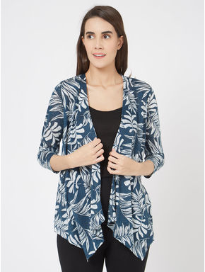 Funky Knit Printed Cardigan