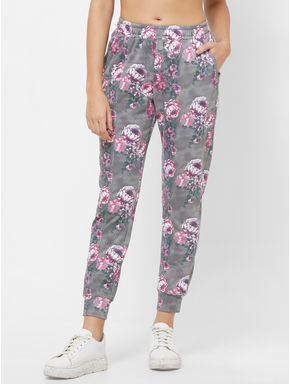 Floral Knitted Track Pants