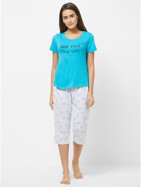 Cat T-shirt Capri Set
