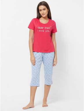 Palm T-shirt Capri Set