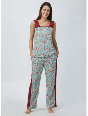 Delicate Lace Top Pyjama Set