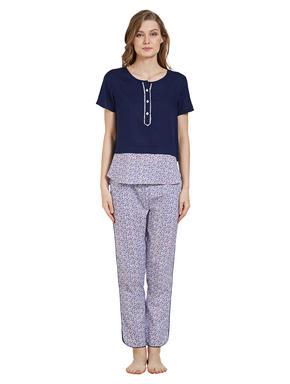 Floral Print Top Pyjama Set
